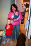 Clydia Masters with her two grandchildren, Dylan and Abbey.