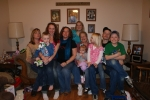 Christmas 2009 L to R, Robin, Jared, Courtney, Jackie, Danielle, Me holding Summer, Abby,Zachary and Dylan. Children, Gr