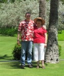Debbie Fadely and her husband Dwight Zolman (FE Class of 1967) in Kauai in 2010.
